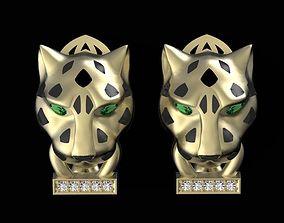 3D printable model panther earrings