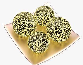 Decorative Candles 003 3D asset