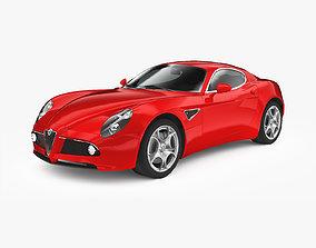 Alfa Romeo 8C 2007 3D asset