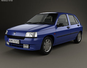 3D Renault Clio 5-door hatchback 1990