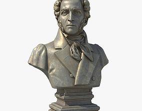 3D Alexander Sergeyevich Pushkin sculpture