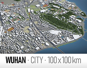 Wuhan - city and surroundings 3D model