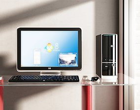 3D model HP Pavilion Slimline Desktop Computer