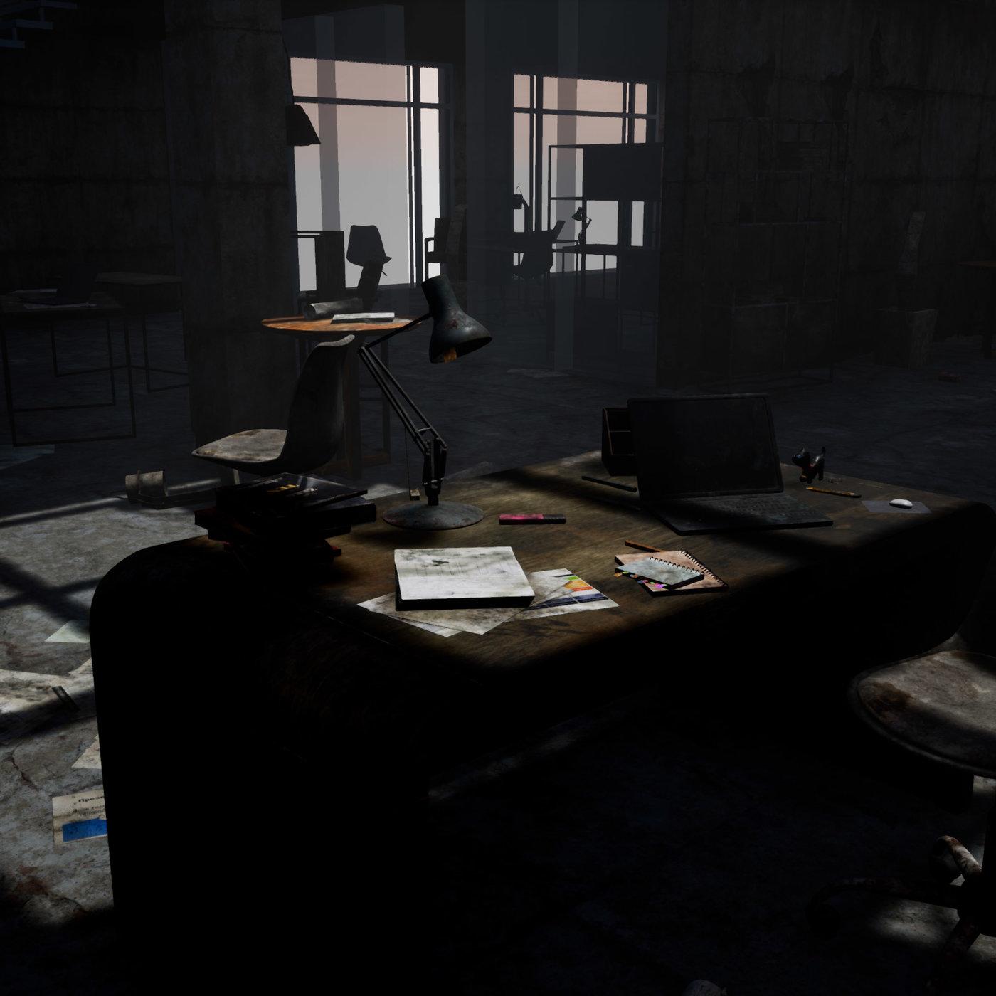 Post-apocalyptic scene in UE4