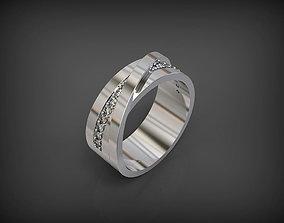 3D print model Wedding Ring with 14 gems