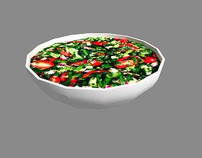 3D asset low poly meal