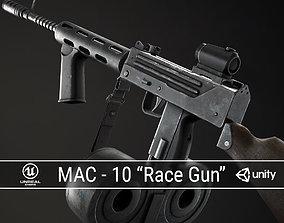 PBR MAC-10 Race Gun 3D asset game-ready