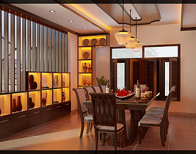3D print model dinning room