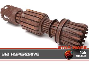 3D printable model Star Wars - Y18 Hyperdrive 1-6 scale