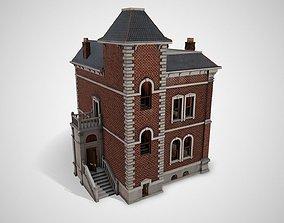 3D asset Victorian house