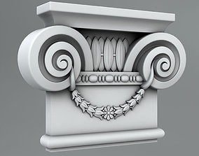 pediment 3D Pilaster Capitals