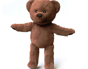 Brunbjorn Soft toy bear 3D model