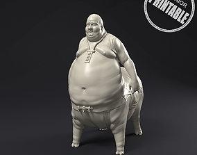 Pig man statue printable