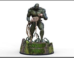 Swamp Thing Statue with light up base 3D print model