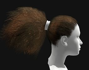 Female Curly Ponytail Hairstyles 3D model