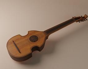 Spanish Vihuela - String Instrument 3D model