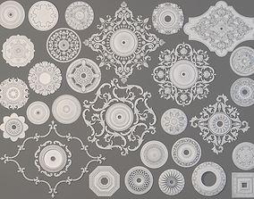 Rosettes Collection -1 - 29 pieces 3D