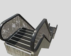 well modeled pbr Escalator game-ready