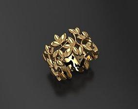 Olive leaf ring 3D print model