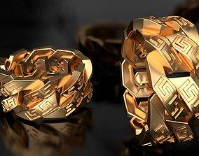 3D print model Versace Miami Cuban Link Chain Ring 10mm