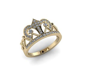 Diamond Jewelry Crown Ring 3D print model