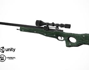 3D model Sniper rifle AWP