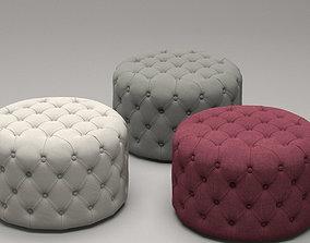 Markus Small Tufted Ottoman 3D model