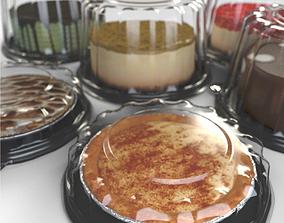 3D Packaged dessert cakes