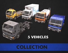 3D asset low-poly Light Truck Collection
