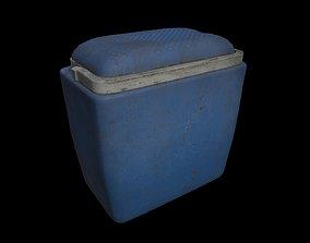 Dirty Cooling Box 3D asset