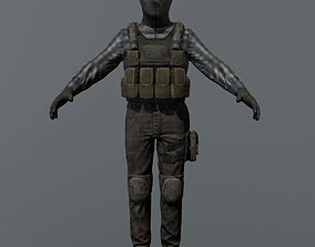 rigged Terrorist Rigged Game Ready Model