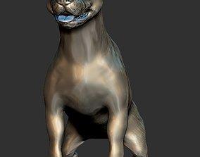 pitbull dog statue 3D printable model