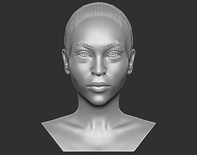 Beautiful afroamerican woman bust 3D printing ready TYPE