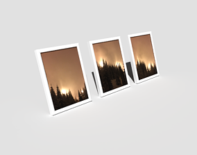 3D model Picture Frames standing White
