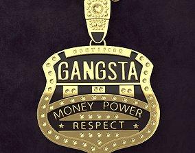 3D asset Gangsta Respect Jewelry