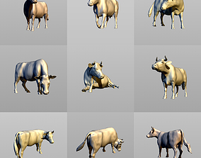 3D printable model Cows in six poses