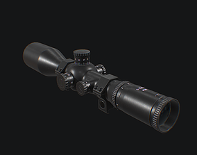 Sniper Scope 3D model realtime