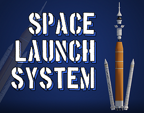 3D asset NASA Space Launch System SLS Artemis Rocket