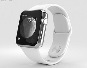 Apple Watch Series 2 38mm Stainless Steel Case 3D model 2