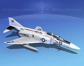 3D model McDonnell Douglas F-4J Phantom II V13