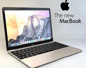 3D model Apple MacBook 2015