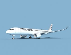 Airbus A220-300 Fast Jet Charter 3D