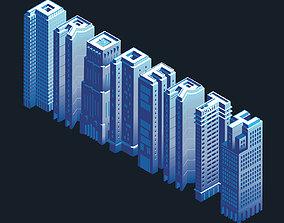 3D Isometric Buildings