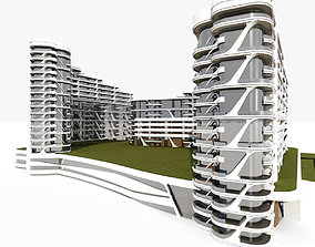 3D model Residential Modern Building 4