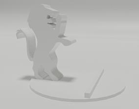 Lion stand 3D print model