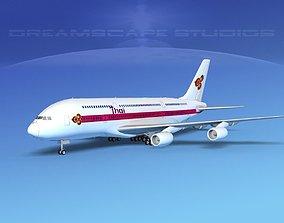 Airbus A380-800 Thai Airways 3D model