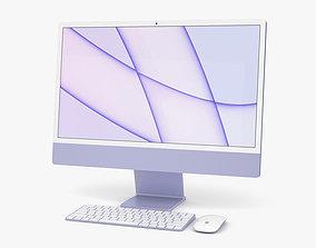 3D Apple iMac 24-inch 2021 Purple