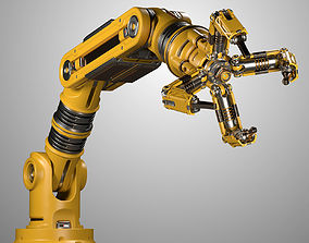 Robotic Arm Rigged Animated 3D