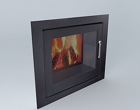 3D In The Wall Fire Place