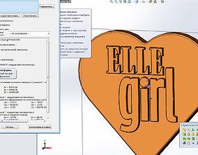 3D print model ELLEgirl heart